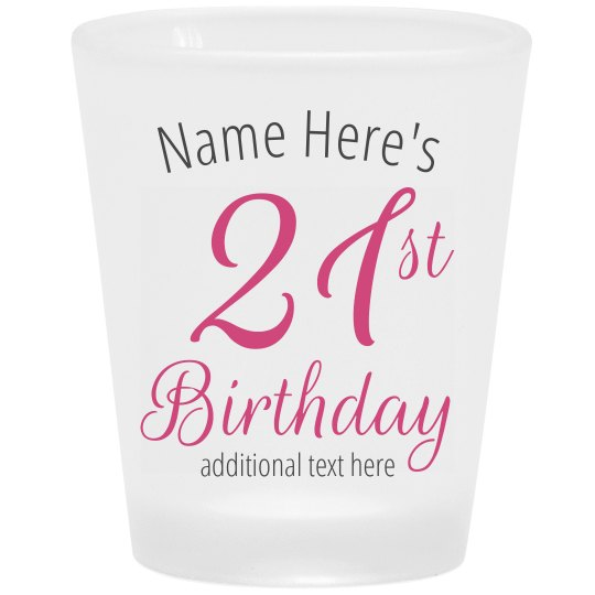21st Custom Frosted Shot Glass
