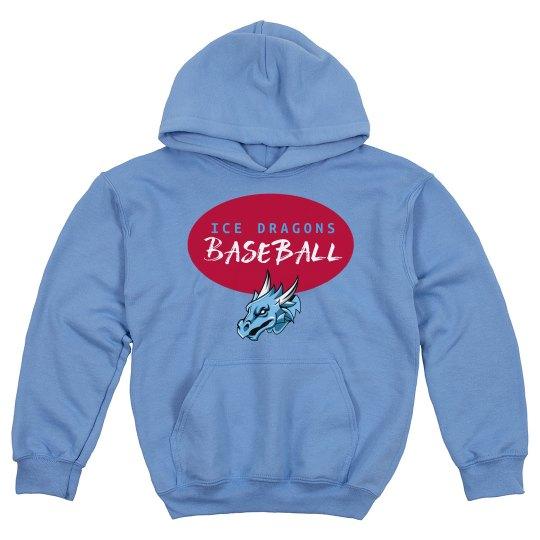 #22 Youth Hoodie -Gildan Brand-Red on Blue