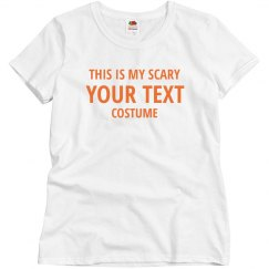 Custom Scary Costume Test Tee