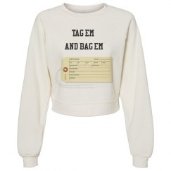 Tag em crop sweater