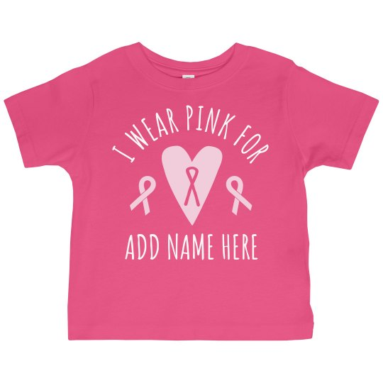 c7f542403 Cute Kids Breast Cancer Supporter Toddler Ruffle Fine Jersey T-Shirt