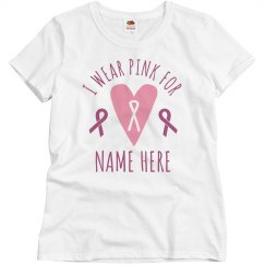 Breast Cancer Support Personalized Tee