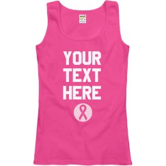 Custom Breast Cancer Charity Text