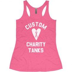 Custom Breast Cancer Charity Text