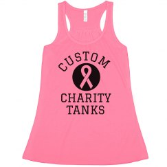 Breast Cancer Custom Charity Text
