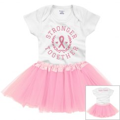 Stronger Together Pink Ribbon Baby