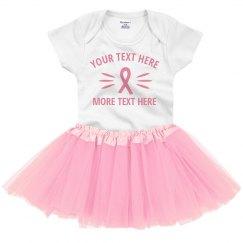 Custom Breast Cancer Support Tutu