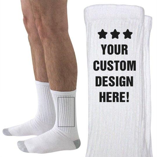 89e64003032 Custom Mens Socks Unisex Hanes Crew Socks