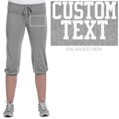 Custom Comfy Crop Sweatpants