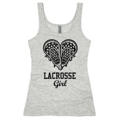 Lacrosse Girl Net Heart Tom Boy Tank