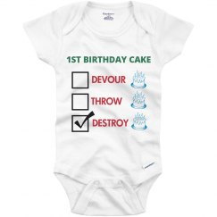 First Birthday Cake Destroy
