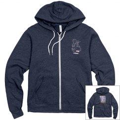 Distressed surf hoodie
