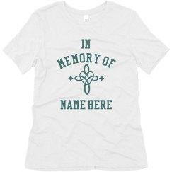 Loving Memory Custom Name Top