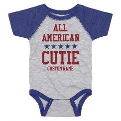 Custom All American Cutie Onesie