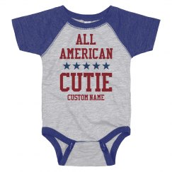 Custom All American Cutie Onesie