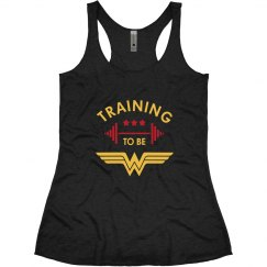 Training to be Wonder Woman Racerback