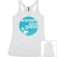 Women Kick Glass Logo Yoga Tee