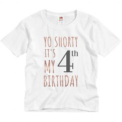 4th Birthday Metallic Top