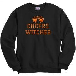 Metallic Orange Cheers Witches