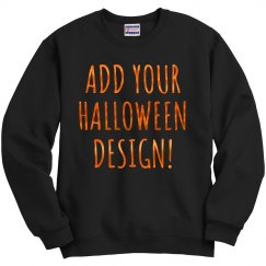 Custom Metallic Halloween Text