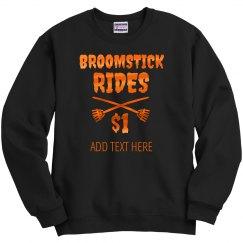 Metallic Funny Broomstick Rides