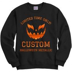 Custom Halloween Metallic Orange