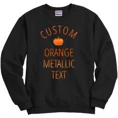 Custom Metallic Text For Halloween