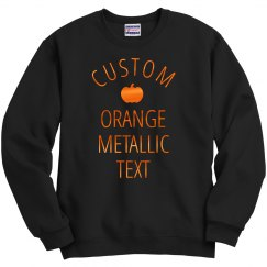 Custom Metallic Text For Halloween