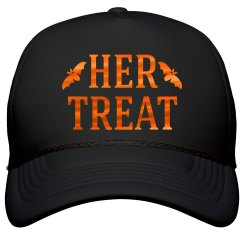 Her Treat Halloween Couple Hat