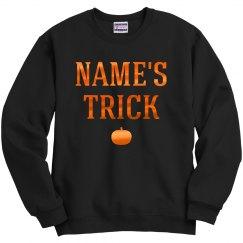 Halloween Couple Custom Name Trick