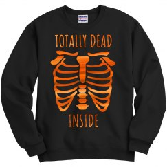 Orange Metallic Totally Dead Inside Bones
