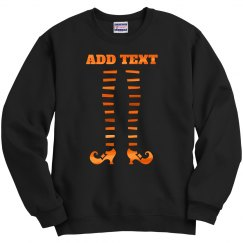 Custom Text Cute Witch Legs Design