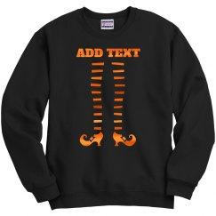 Custom Text Cute Witch Legs Design