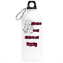 Single But Living It Big Water Bottle