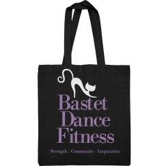 Bastet Dance Fitness Canvas Tote Bag - Purple