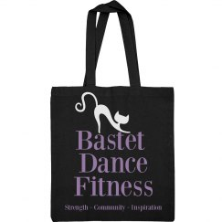 Bastet Dance Fitness Canvas Tote Bag - Purple