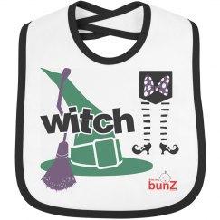 Infant witch bib