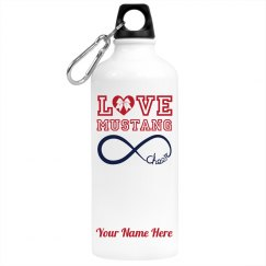 Custom Love Mascot Cheer Water Bottle
