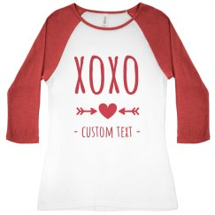 Hugs & Kisses Custom Valentine's Raglan