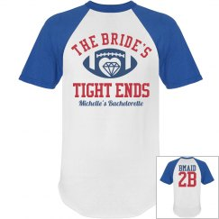 Football Bachelorette Party Shirts for the Bridesmaids