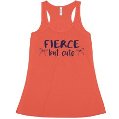 Fierce But Cute Cheer Crop Tank
