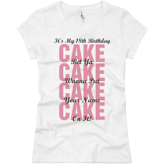18th Birthday Party Shirt Ladies Slim Fit Basic Promo Jersey T