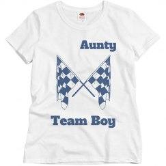 Lala's sister's gender reveal shirt