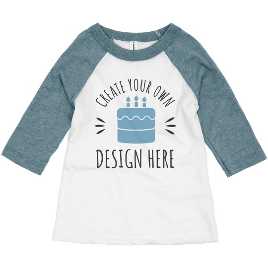 Custom Toddler Kid Birthday Shirts 3 4 Sleeve Raglan T Shirt