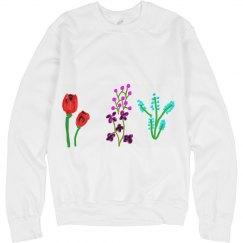 Misc flowers sweatshirt