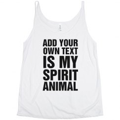 Custom Spirit Animal Tank