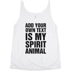 Custom Spirit Animal Tank