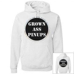 GROWN ASS PINUPS OFFICIAL BADGE HOODED SWEAT SHIRT