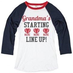 Custom Baseball Grandma Pride
