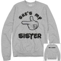 She's my sister (Not a couple) - Sweatshirt